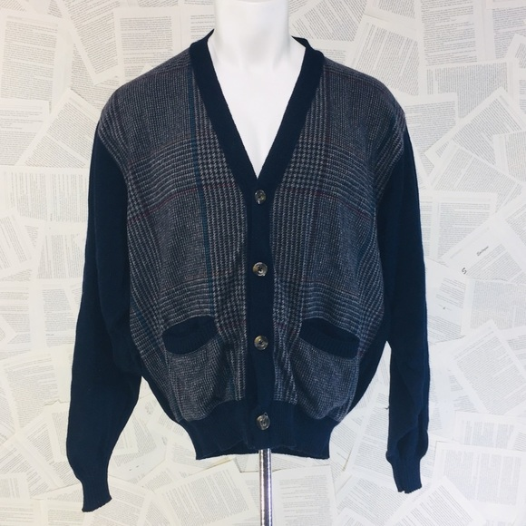 Pendleton Other - Vintage Grandpa Librarian Blue Cardigan Sweater L